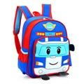2017 New Children Cartoon School Bags for Boys Girls 3D Robocar Poli Schoolbag Kindergarten Baby Backpack Kids Mochila Infantil