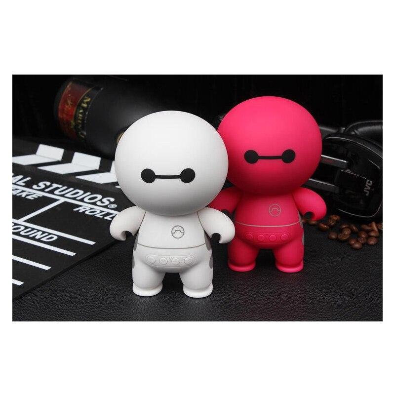 Cartoon Robot Portable Bluetooth Speaker USB Radio Wireless Column Loudspeaker For Computer For Smartphone
