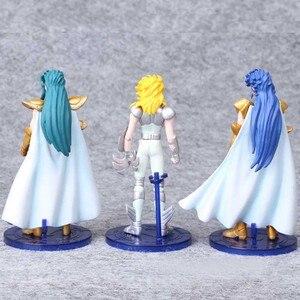 Image 4 - 5 sztuk/zestaw 15 cm Saint Seiya pcv akcja figurka zabawka japońskie Anime Saint Seiya manekin sklepowy zabawki urodziny dzieci Jouet prezent