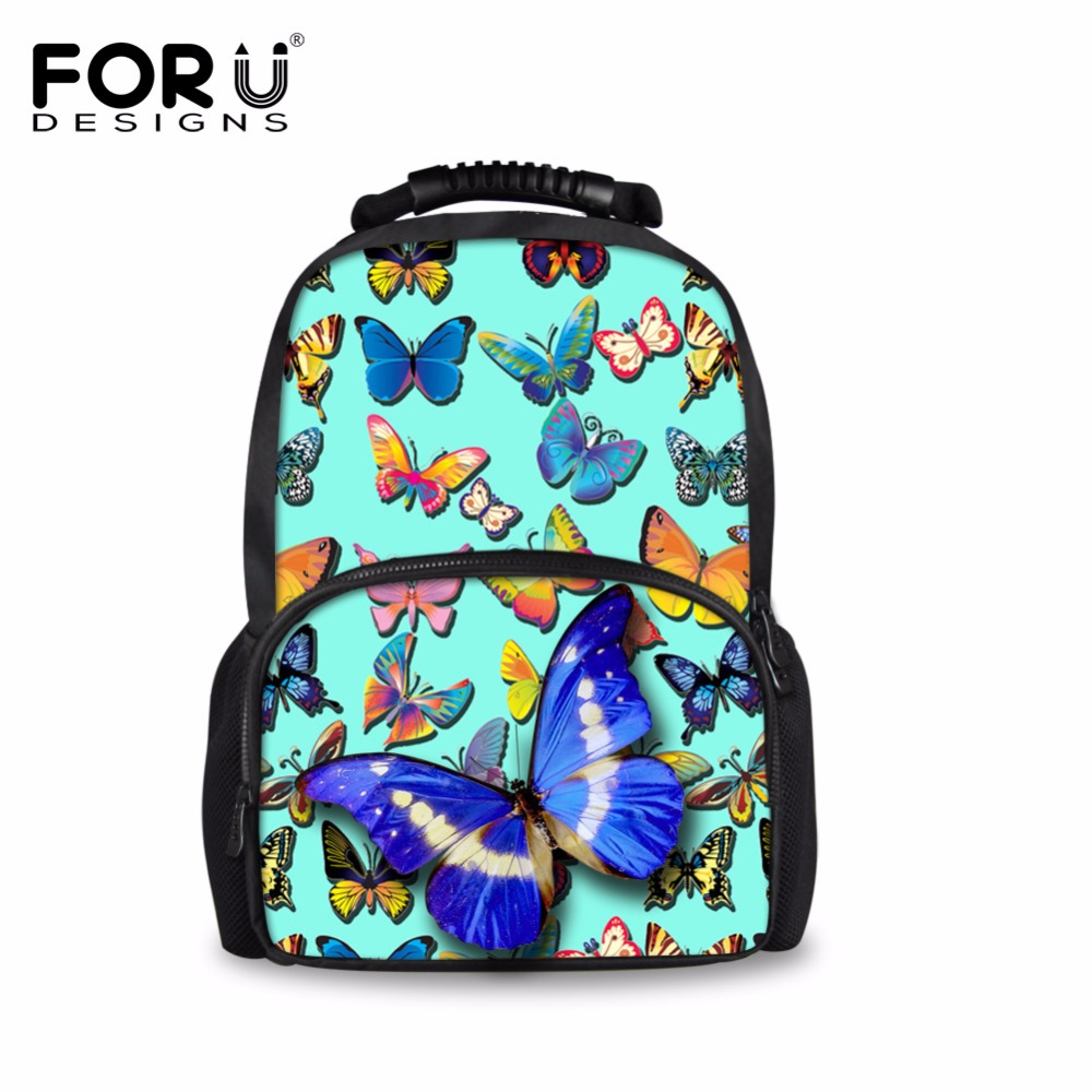 FORUDESIGNS Fantasy Butterfly Printing Backpack for Women School Girls Daily Backpack for Travel Children Kids Laptop
