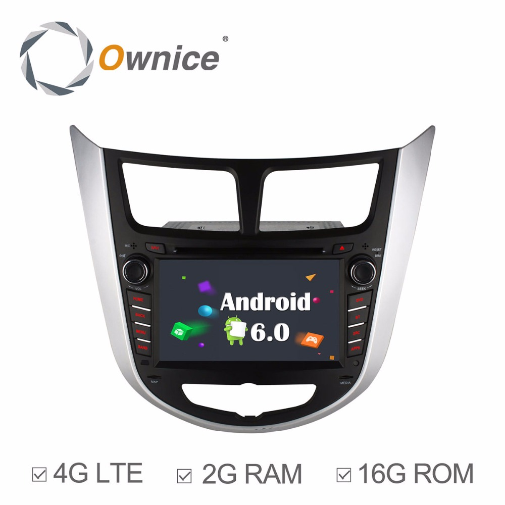 HD 1024X600 Quad Core 2GB RAM Android 6.0 Car DVD Player For HYUNDAI Accent Verna Solaris i25 2011 2012 2013 Radio GPS 4G LTE