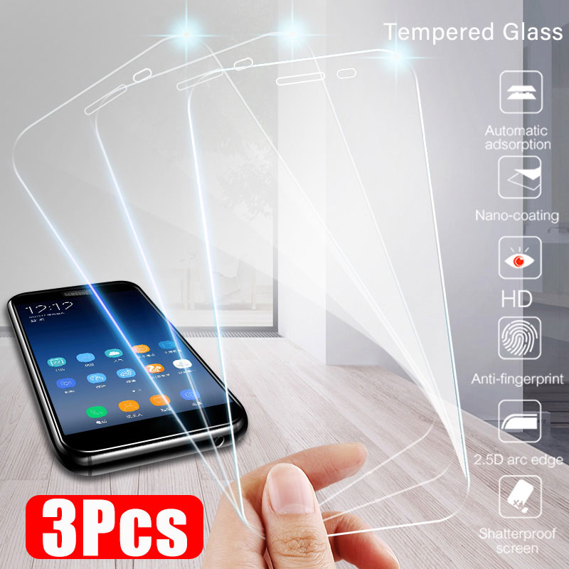 3-1Pcs Full Cover Protective Glass For Samsung Galaxy A5 J6 A6 A8 J4 Plus Tempered Glass For Samsung J6 A7 2018 Tempered Glass