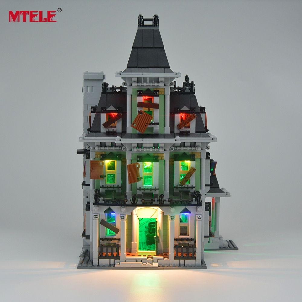 MTELE Brand LED Light Up Kit Untuk City Monster Fighter Haunted House - Mainan pembinaan - Foto 3