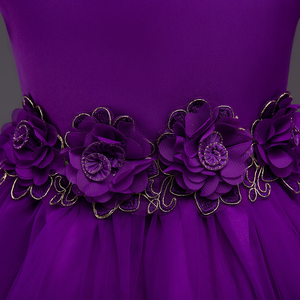 3 10years princesa vestido de fiesta para dama rojo púrpura azul ...