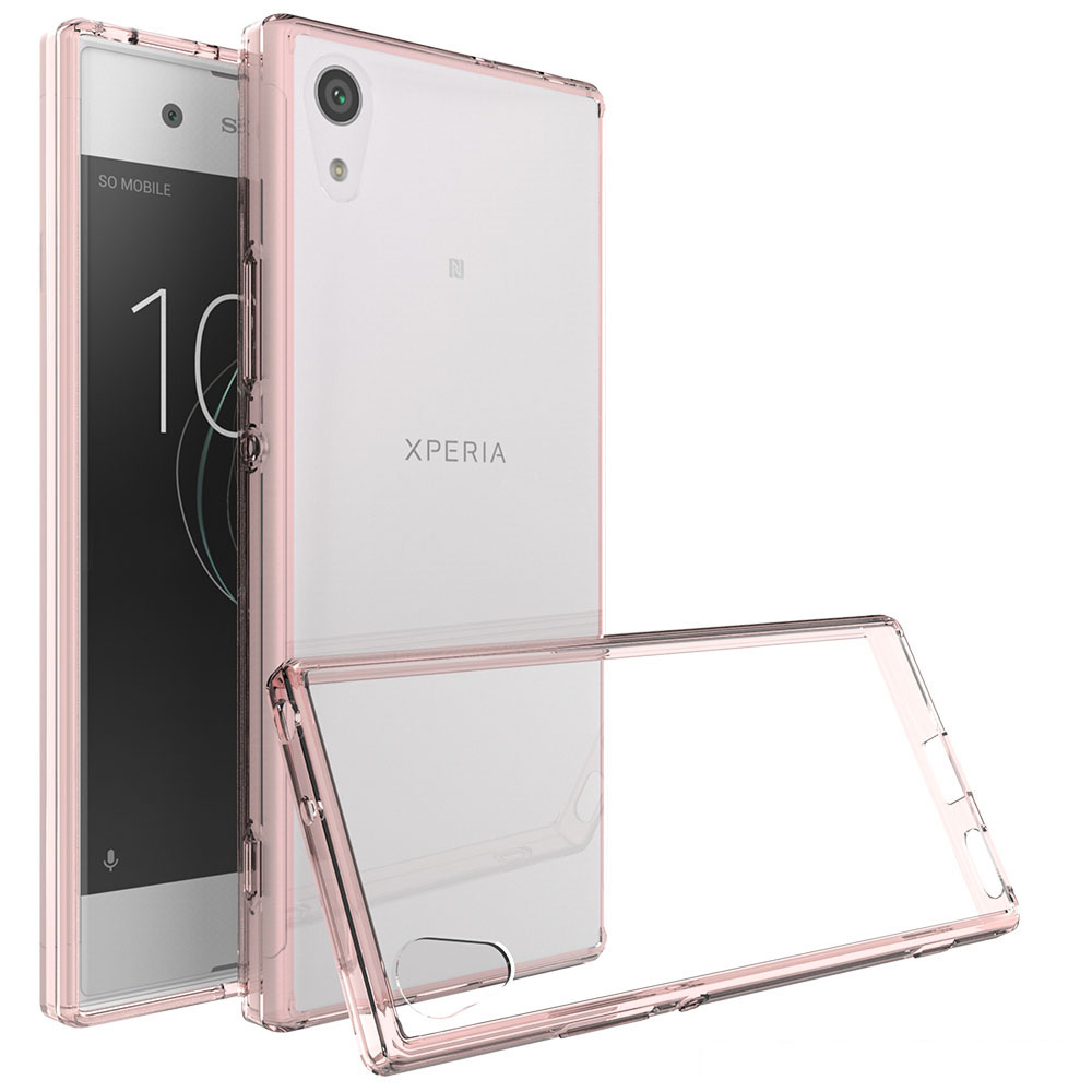 huge selection of 259c7 79802 US $2.54 15% OFF For Sony Xperia XA1/XA1 Ultra Transparent Clear Hard  Acrylic Back Case TPU Shockproof Cover For Xperia XA1 Ultra Phone Cases  @-in ...