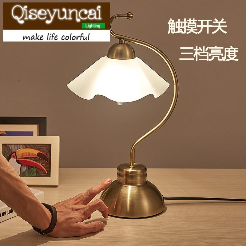 Qiseyuncai Modern and simple European style garden hand third induction lamp creative fashion bedroom study lighting ...