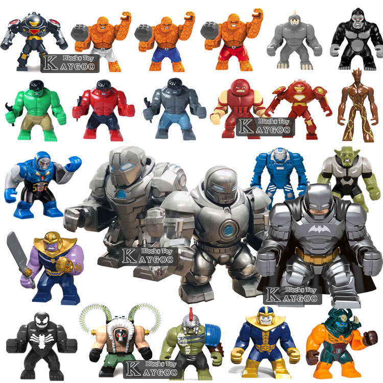 Single Big Size Marvel Venom Edward Brock Anti-Venom Hulk Thanos Batman Bane Cull Obsidian Figure models Building Blocks Toys
