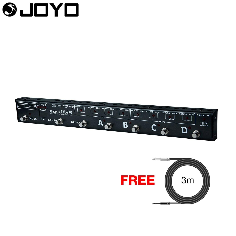 цена JOYO Programable Looper Control Station Switcher Guitar Effect Pedal Built-in 4 Triggers PXL-PRO with Free 3m Cable онлайн в 2017 году