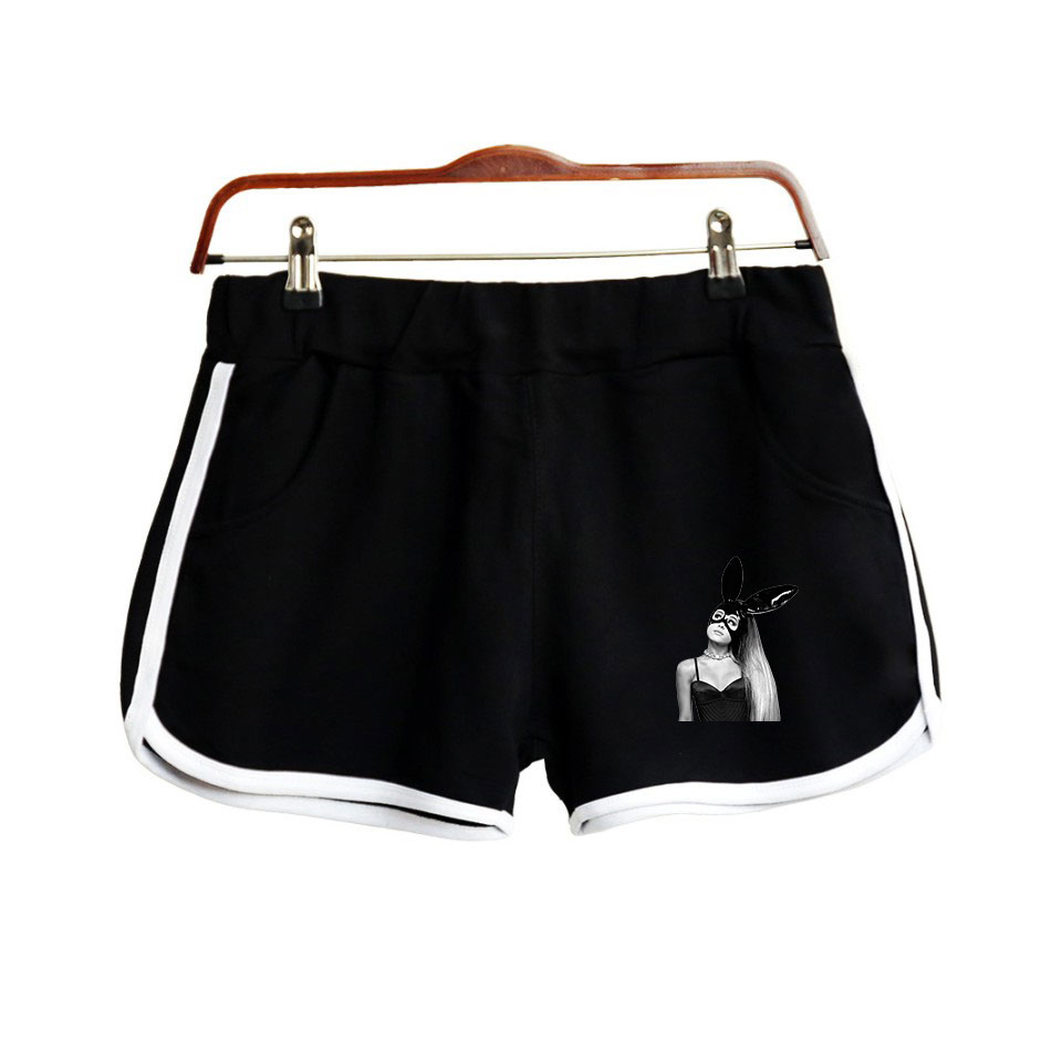 Frdun Tommy NEW 2018 Ariana Grande Elastic Waist Shorts Women Casual Loose Cotton Shorts For Women Young Printing Short Femme