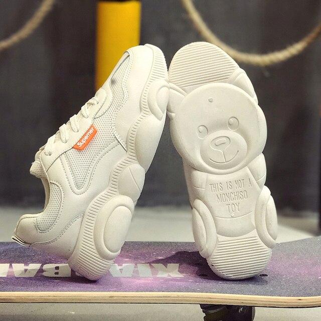 통기성 에어 메쉬 espadrilles ins hot shoes 여성 곰 zapatos de mujer 스포츠 러닝 운동화 야외 tenis sapato feminino
