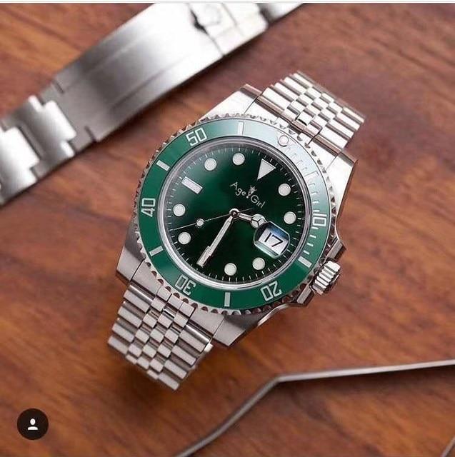 392507f0d53 2018 Marca Novos Homens de Luxo Relógios Mecânicos Automáticos Preto Verde  Azul Painel de Cerâmica de