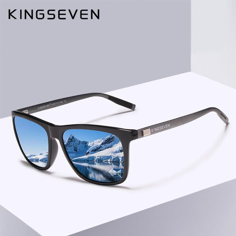 KINGSEVEN Brand Unisex Retro Aluminum+TR90 Sunglasses Polarized Lens Eyewear Accessories Sun Glasses For Men/Women