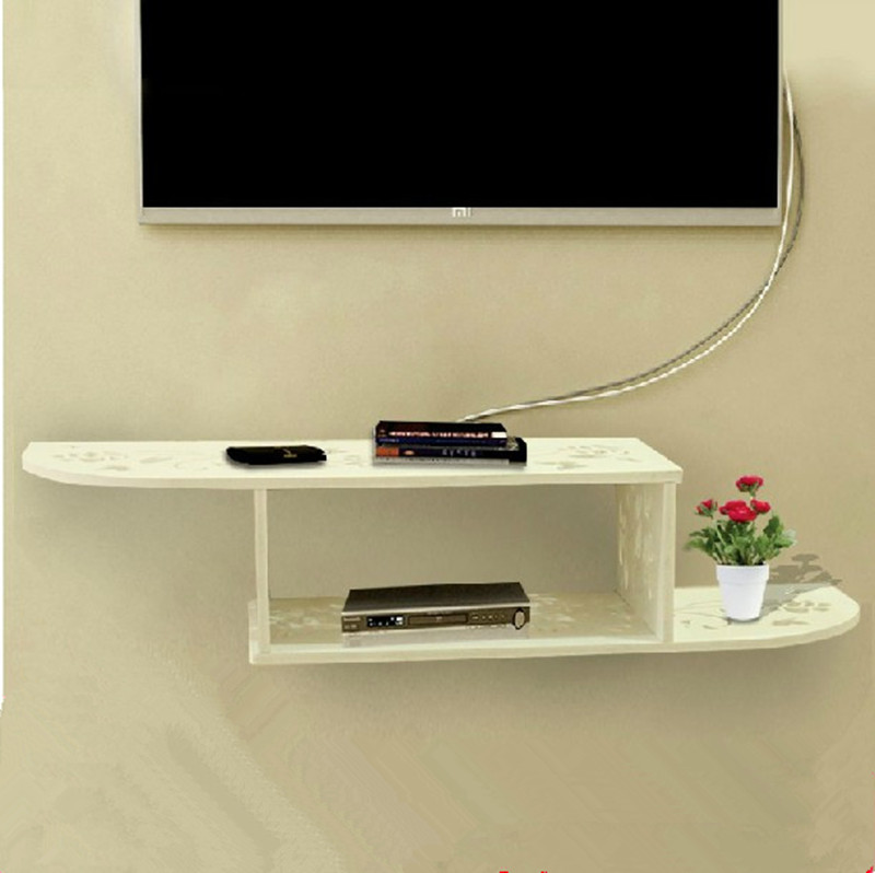 Tv set top box racks the wall hanging rack carved plate for Best tv to hang on wall