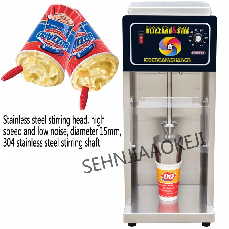 Blizzard machine ice cream machine DQ-998 Snowstorm machine Stainless steel ice cream mixer Commercial stirrer 220V 650W 1pc