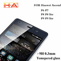 9 H 2.5D Premium Vidrio Templado para el Huawei Ascend P6 P7 Protector de Pantalla de la película protectora para huawei P8 P8 P9 P9 lite