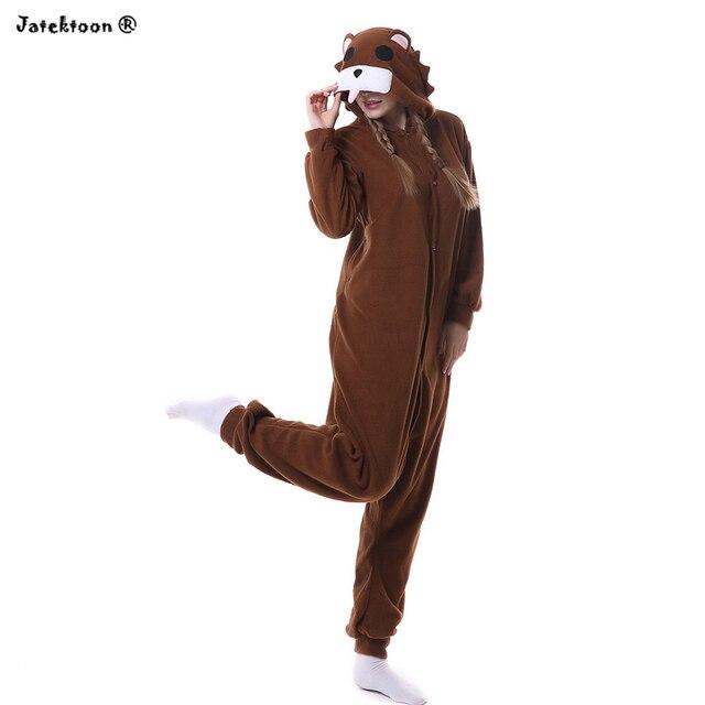 incontrare 2be3f 60c42 US $14.0 |Marrone pedo orso carino piccolo orso pedobear morbido pigiama  anime cosplay unisex adulto tutina da notte pigiami tute e tute da palestra  ...