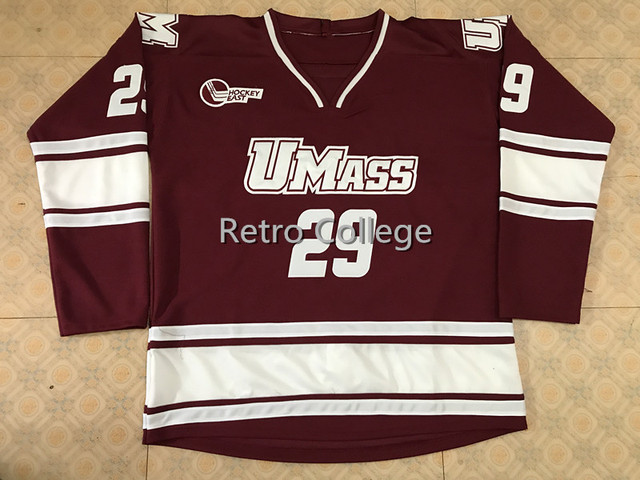 097864923  29 JONATHAN QUICK UMASS MINUTEMEN Men s Hockey Jersey Embroidery Stitched  Customize any number and name