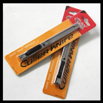Nóż do cięcia papieru żyletka materiały biurowe Mini nóż małe narzędzia nóż ze sztućców ze stali nierdzewnej tanie i dobre opinie p0212