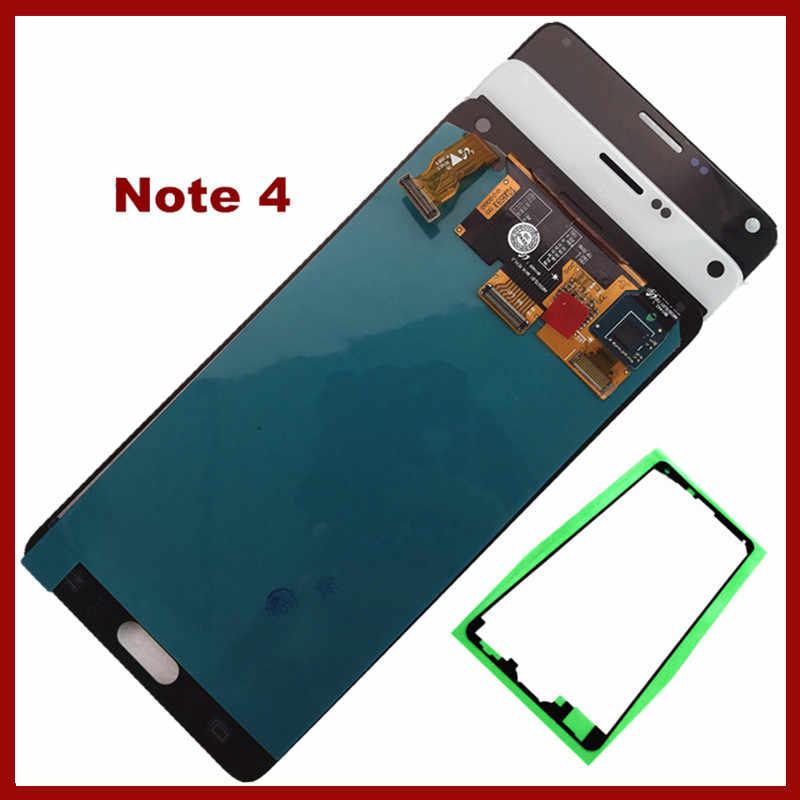 Для samsung Galaxy Note 4 lcd Note4 N910 N910C N910F N910A ЖК-дисплей AMOLED сенсорный экран дигитайзер Запасные части в сборе