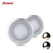 PIR Körper Motion Sensor LED Unter Kabinett Licht AAA Batterie Betrieben Auto Nacht Lampe Cordless Einfach zu Installieren Für Korridor treppen
