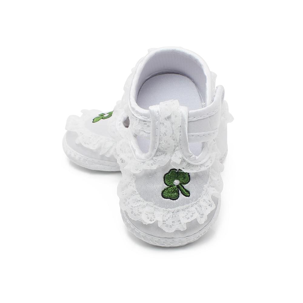 Чисти бели обувки за новородено Меки - Бебешки обувки - Снимка 5
