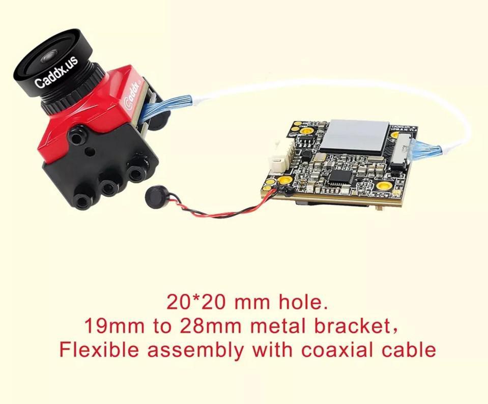 LeadingStar Caddx żółw V2 1080 p 60fps FOV 155 stopni Super WDR Mini HD FPV OSD kamery Mic dla RC drone w Części i akcesoria od Zabawki i hobby na  Grupa 3