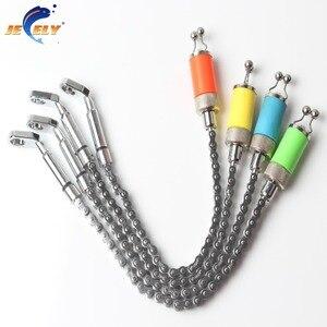 Image 2 - Balanço de pesca corrente de alumínio, conjunto de aço inoxidável, indicador para pesca de carpa, 4 cores para alarme de mordida