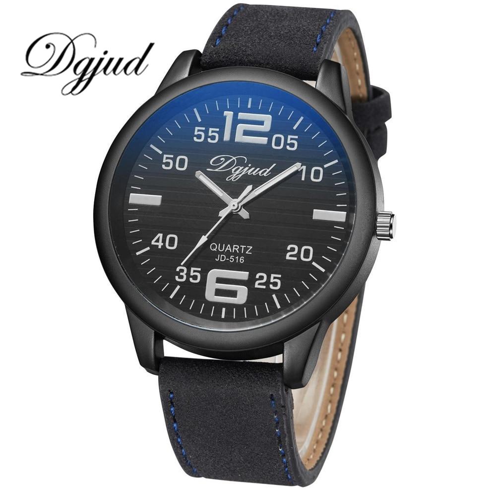 DGJUD Watch Women Brand Luxury Fashion Casual Quartz Unique Stylish Watch Leather Sport WristWatch Male Clocks Lovers' Watch