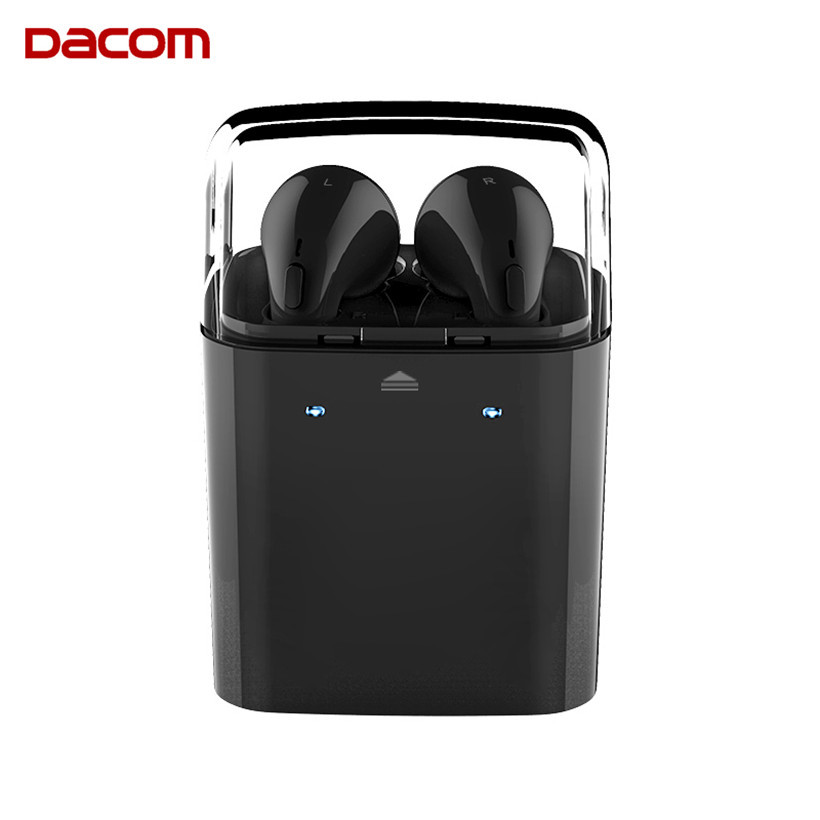 DACOM GF7TWS Mini Bluetooth Headset Handsfree Earbuds True Wireless TWS Headphone Blue tooth Earphones with Mic for Mobile Phone dacom carkit bluetooth headset stereo mini wireless earphones handsfree earbuds auriculares bluetooth 4 2 gf7 for iphone android