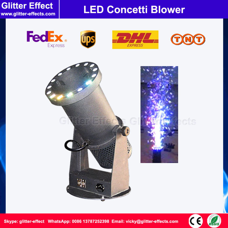 DJ night club stage special effect wedding celebration color paper mini small LED confetti cannon shooter blower machine купить