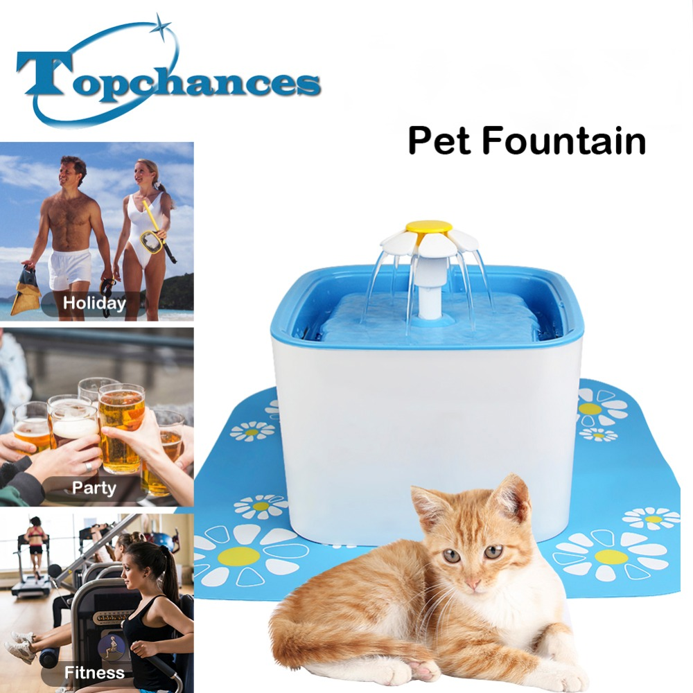 цена на 2018 Newest High Quality Square Flower Style Automatic Electric 2.5L Pet Water Fountain Dog/Cat /Bird Drinking Bowl