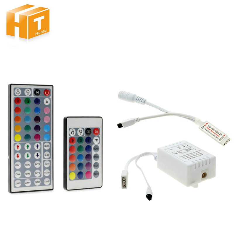 RGB LED Controller DC12V 44 / 24 Key IR Remote Controller For 3528 5050 RGB LED Strip ...