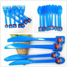 30PCS/lot Lightning Mcqueen Disposable Plastic Knife/Fork/Spoon 95 Cars Party Supplies  Kids Birthday Decoration