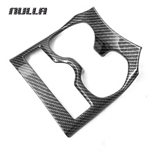 NULLA Carbon Look For NISSAN Xtrail X-Trail X Trail T32 Rogue 2014 2015-2017 Car Water Cup Holder Cover Interior Accessories