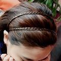 Bluelans 4 Colors Braided Stretch Elastic Hair Band Headband Barrette Hair Sticker Hair Accessories