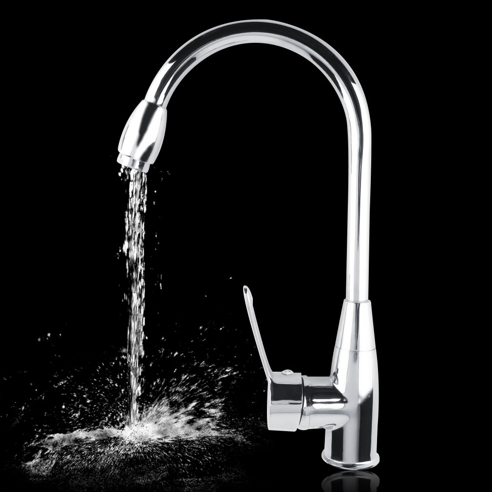 Alloy Chromed Hot Cold Mixer Water Tap Basin Kitchen Bathroom Wash Faucet P20