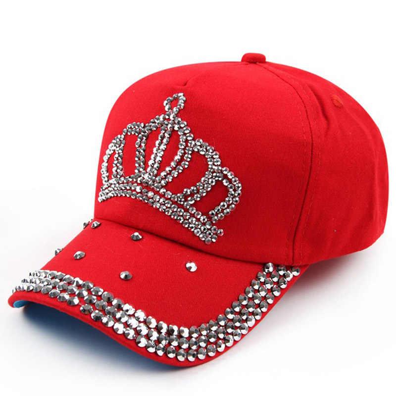 ... VONRU Brand New Crown Rhinestone Baseball Caps Fashion Jean Hat Hip Hop Women  Denim Baseball Cap ... e5402ca98237