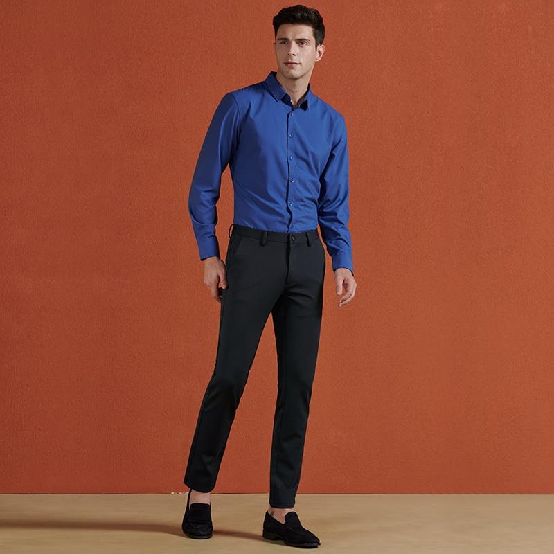 bleu Homme Coton Nouvelle Smart Décontracté Costume Modèle Mode En D'affaires Noir Hommes Droite Automne Pantalon 70079 wZa7qZ5