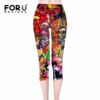 FORUDESIGNS 3D Printed Women leggings Oil Painting Colorful legins soldier leggins pant legging for Woman cool leggins S M L XL