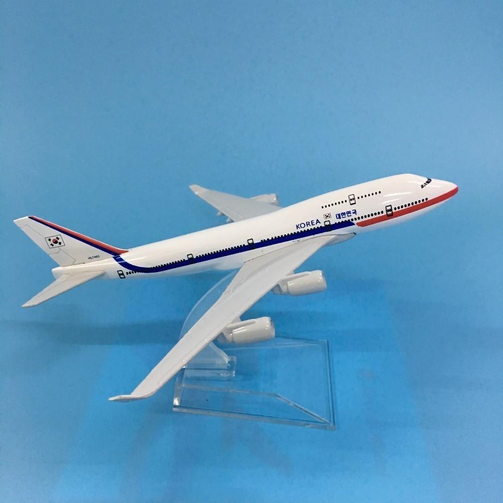 JASON TUTU Aircraft Model Diecast Metal 1:400 16cm Plane Model Airplane Model Korea No. 1 Boeing 747 Airplanes Plane Toy Gift