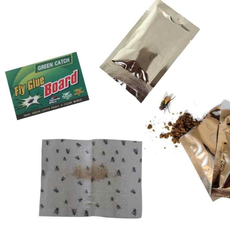 Gereedschap 1/5/10 Pcs Sterke Vliegt Vallen Bugs Sticky Board Catching Bladluis Insecten Killer Ongediertebestrijding Witte Vlieg lijm Stickers