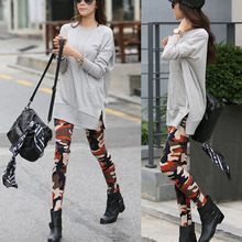 2016 Newest Women Camouflage Army Print Stretch Cool Sexy Pants Skinny Leggings Trousers цена