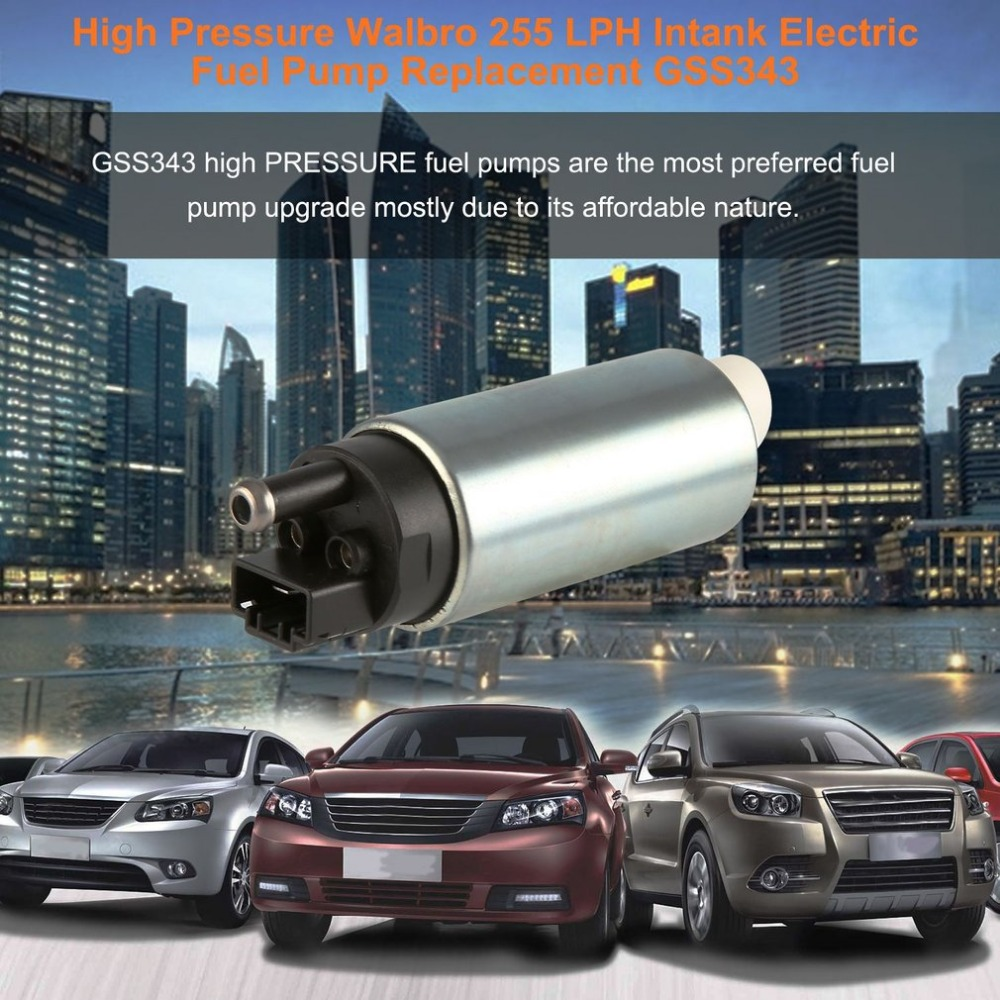 Car High Performance Walbro 255 LPH Intank Electric Fuel Pump Replacement High Pressure Walbro Fuel Pump GSS343 Hot Sell