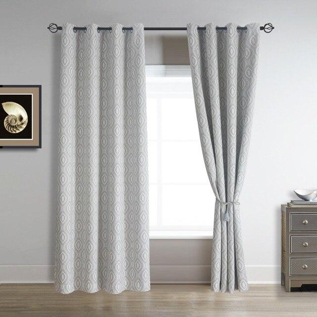 Lino cortina de ventana para dormitorio y sal n 52 por 96 pulgadas chocolate y beige gris en - Cortinas lino beige ...