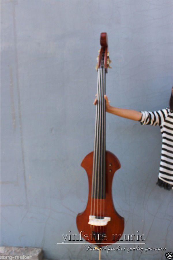 3/4 Upright double bass High quality Powerful Sound Solid wood 5 string 002208 4 string 3 4 new electric upright double bass finish silent powerful sound
