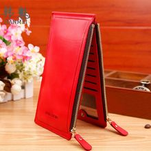 Free Shipping 2016 Women Purse Double Zippers Wallets Ultra-large Capacity Lady Luxury Clutch Card Holders Top Quality J422