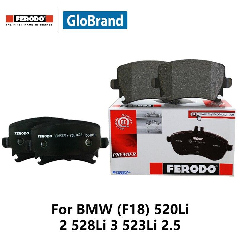4pcs/lot Ferodo Front Car Brake Pads For BMW (F18) 520Li 2 528Li 3 523Li 2.5 FDB4380 колодки ferodo 2 4