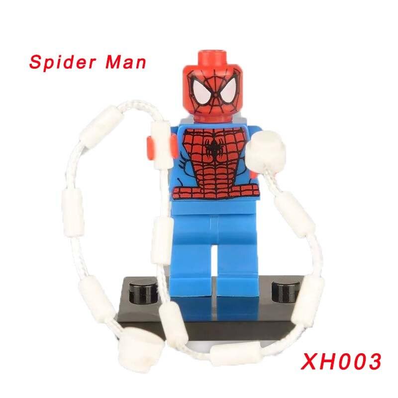 Xh003 Super Heroes Бесконечность война Человек-паук Халк Капитан Америка Железный человек Тор строительные блоки игрушки для Детский подарок