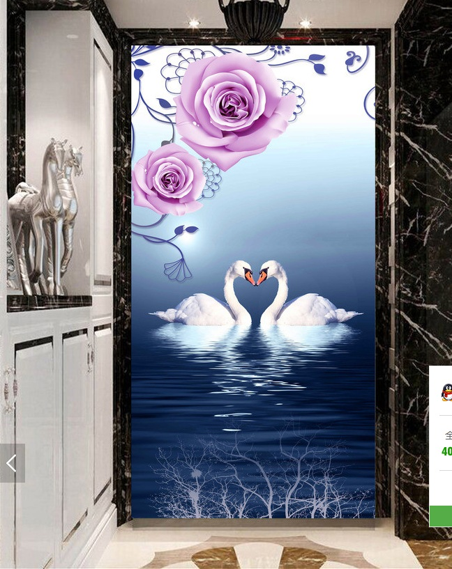3d room wallpaper custom mural non-woven Wall sticker 3 d Beautiful rose white swan porch painting photo wallpaper for walls 3d 3d wallpaper custom mural non woven wall sticker black and white wood road snow tv setting wall painting photo wallpaper for 3d