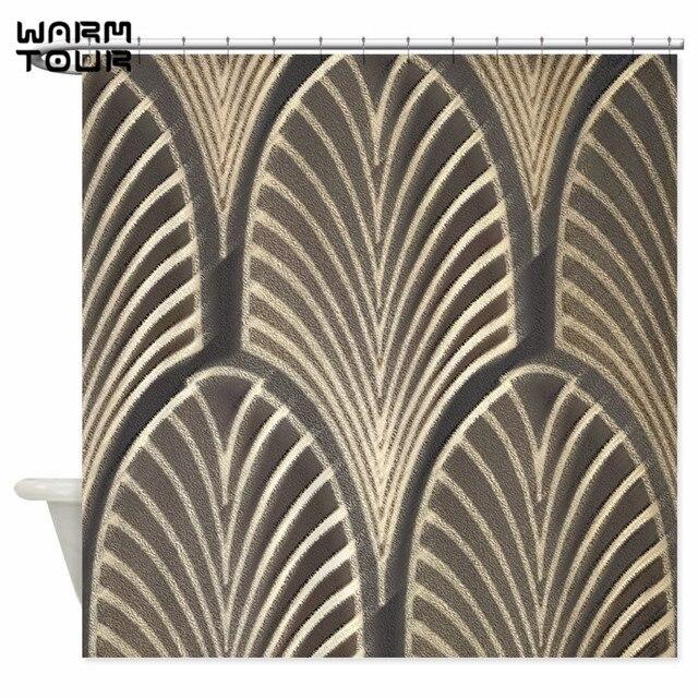 Warm Tour Art Deco Fan Geometrische Dekorative Stoff Duschvorhang ...